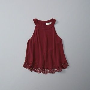 PERFECT Conditon Abercrombie Lace Trimed Tank